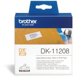 BROTHER LABEL PRINTER LABELS Std Address LGE 38X90mm White Box of 400