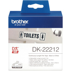 BROTHER LABEL PRINTER ROLLS White Film Roll 62mmx15.24mt