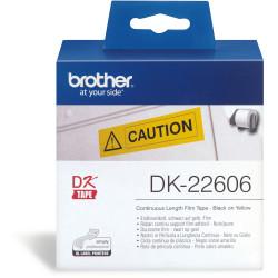 BROTHER LABEL PRINTER ROLLS Yellow Film 62mmx15.24mt
