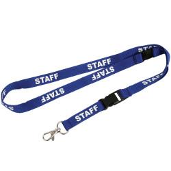Rexel Pre-Printed Lanyard Staff Blue Pack Of 5