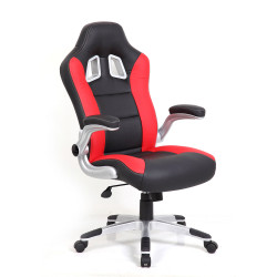 XR8 Racing Gaming Chair High Back with Headrest Red & Black PU
