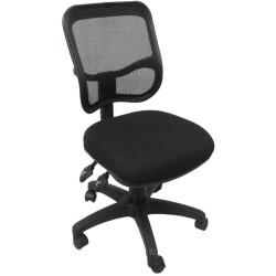 EM300 Small Seat Office Chair Black Mesh Medium Back Black Fabric Seat Black Mesh