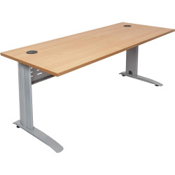 RAPID SPAN DESK W1500xH750mm Beech Top Silver Legs
