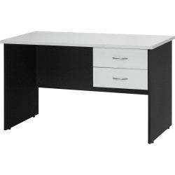 LOGAN STUDENT DESK 1200x600mm With 2 Drawers White & Ironstone
