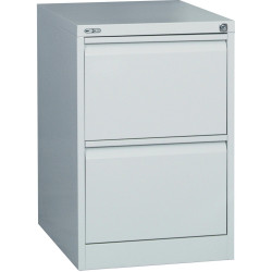 GO 2 DRAWER FILING CABINET H730xw460xd620mm Silver Grey Furnx