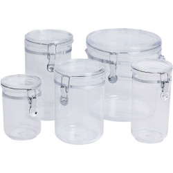 CONNOISSEUR STORAGE CANISTERS Round Acrylic, 810ml