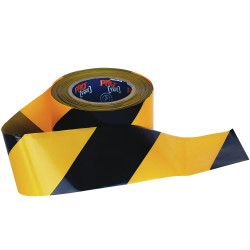 Zions Barricade Safety Tape Yellow & Black 100m x 75mm