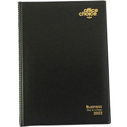 OFFICE CHOICE BUSINESS DIARY A4 1 Day to a Page 15min appoint 7am - 7pm