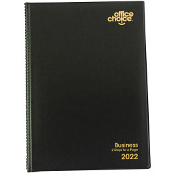 OFFICE CHOICE BUSINESS DIARY A4 2 Days to a Page 1 Hr Appointment 7am - 7pm