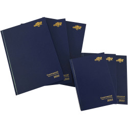 OFFICE CHOICE COMMERCIAL DIARY A4 Wk to an Opening 1 Hr Blue