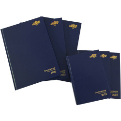 OFFICE CHOICE COMMERCIAL DIARY A5 2 Days to a Page 1 Hr Blue Appointment 7am - 7pm