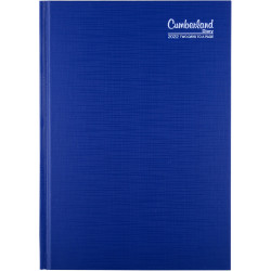 CUMBERLAND PREMIUM CASEBOUND Diary A5 2 days to a page 1 Hr appointment Blue