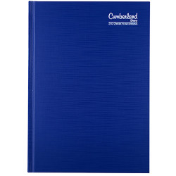 CUMBERLAND PREMIUM CASEBOUND Diary lA5 WTO 1 Hr appointment Blue