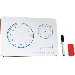 JPM EDUCATIONAL WHITEBOARD A4 Clock 299x212x3mm