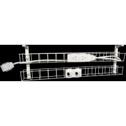 RAPID CABLE MANAGEMENT Dual Basket 650mm 2GPO + 2Data 1.5m Interconnecting Lead