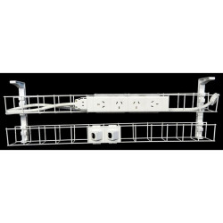 RAPID CABLE MANAGEMENT Dual Basket 1250mm 4GPO +2Data 2m Interconnecting Lead