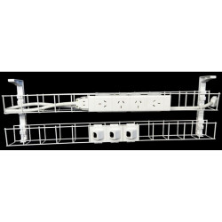 RAPID CABLE MANAGEMENT Dual Basket 1250mm 4GPO +3Data 2m Interconnecting Lead