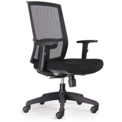 RAPIDLINE EXECUTIVE CHAIR High Back Mesh Black Fabric Seat, Black Mesh