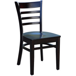 FLORENCE BARSTOOL TIMBER SEAT Chocolate base, timber seat