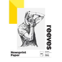 REEVES NEWSPRINT PAD A3