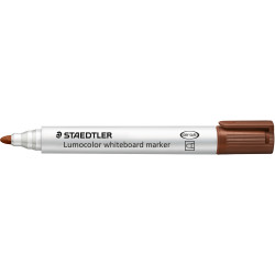 STAEDTLER 351 LUMOCOLOUR Whiteboard Marker Brown Bullet Tip Box 10