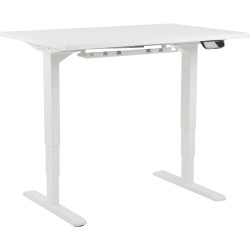 ELECTRIC SITSTAND 3-Stage Reverse Dual Motor Standing Desk with white top 1500x750