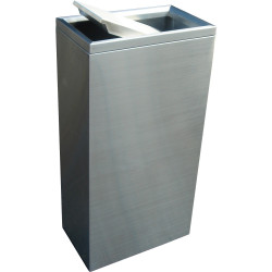 COMPASS 40L SWING BIN Brushed stainless steel W 230xl380xH750mm