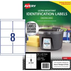 Avery 959243 Ultra Heavy Duty Industrial Labels White L7914
