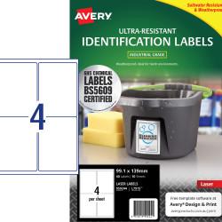 Avery 959244 Ultra Heavy Duty Industrial Labels White L7915