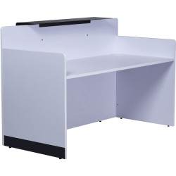 Rapid Span Reception Counter Brilliant White Only 1800mm W x 800mm D Worksurface