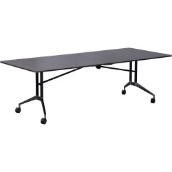 Rapid Edge Folding Boardroom Table-Includes 2 x Table Links 2400mm W x 1000mm D x 743mm H