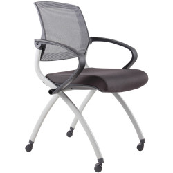 Rapidline Mesh Back Training And Conference Chair Foldable Nesting Capabilities