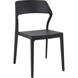 Siesta Stackable Chair Black without Arms