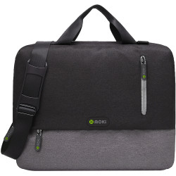 Moki Odyssey Satchel Notebook Satchel Black / Grey