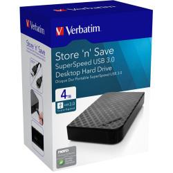 VERBATIM 4TB PORTABLE Hard Drive Black USB 3.0