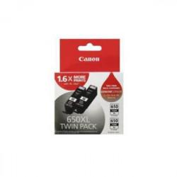 INKJET CART CANON 650XL TWIN PACK BLACK