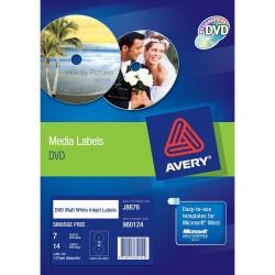 AVERY CD/DVD LABELLING SYSTEM Inkjet/Laser 2Lbl/Sht White