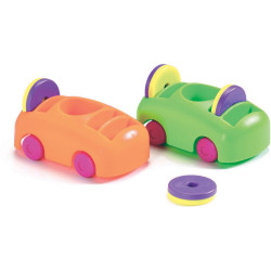 SHAW MAGNETS Push-Pull Cars & Magnet Set