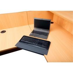Corner Lozenge For 25mm Top Rapid Worker graphite ripple Desk Accessory