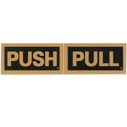 GEO BLACK/GOLD SIGNS Push/Pull 200x50mm