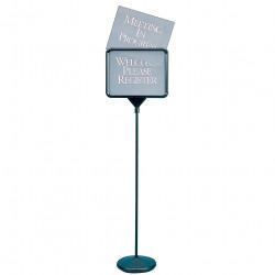 QUARTET SIGNWARE PEDESTAL SIGN H132cm 280x360mm