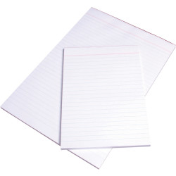 OFFICE PADS BANK A5 210x148mm Plain White