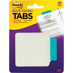 POST-IT DURABLE TABS Aqua Note Taking 10 Tabs Per Pack