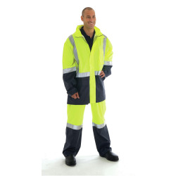ZIONS 3879 SAFETY JACKET Light Rain Two Tone Reflective