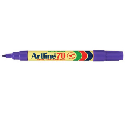 ARTLINE 70 PERMANENT MARKERS Med Bullet Purple - Box of 12