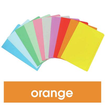 Marbig Manilla Folders Foolscap Orange Box Of 100