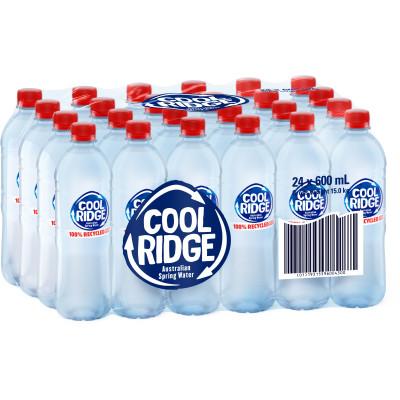 Cool Ridge Spring Water 600ml Pack of 24