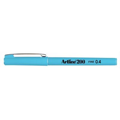 Artline 200 0.4mm Fineliner Pen Light Blue BX12