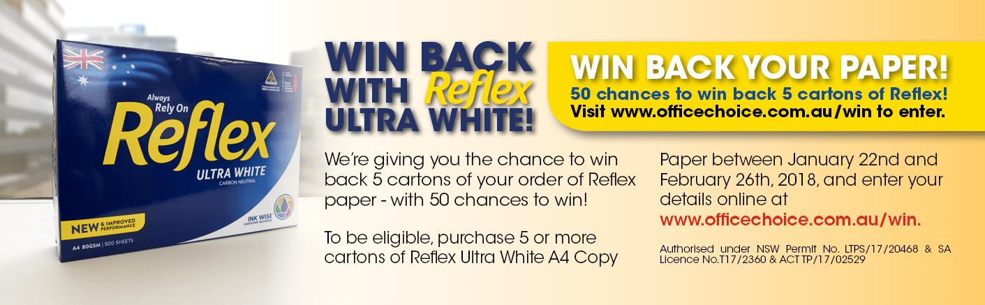 Reflex Ultra White A4 Copy Paper Carton